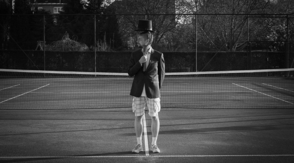 Man with Hat - Tennis court 2