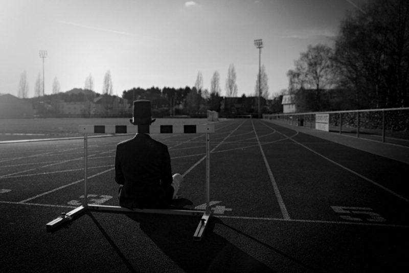 Man with Hat – Sport court 1