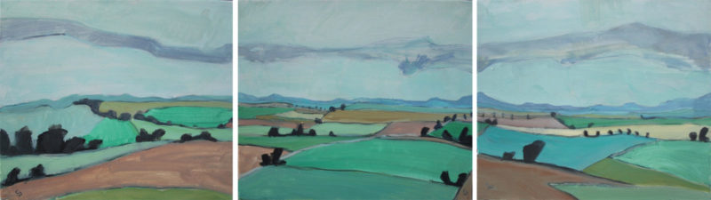 Landschaft 41 – Collines d'Ehnen (Triptyque) 1