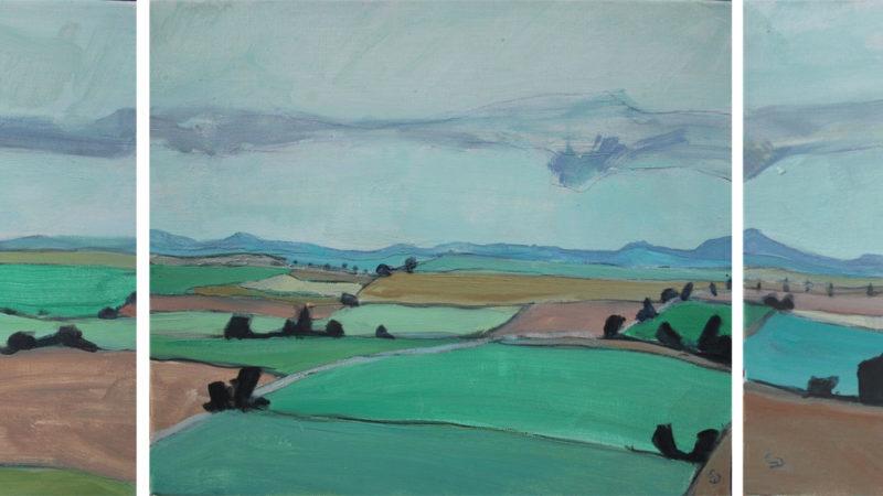 Landschaft 41 - Collines d'Ehnen (Triptyque)