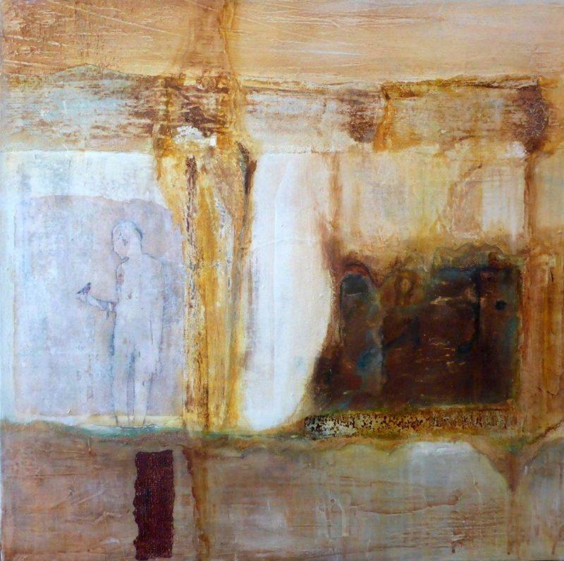 l'homme et la rouille ( 70 X70 ) 450€- Rosana Faustino.