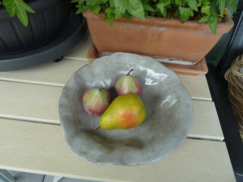 Renata Sandini, No 422 : Coupe à fruits ondulée en céramique, 25cm