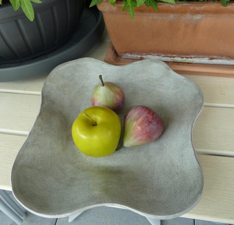 Renata Sandini, No 427 : Coupe à fruits ondulée ronde en céramique