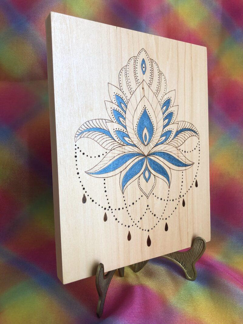 pyrography-wood-lotus